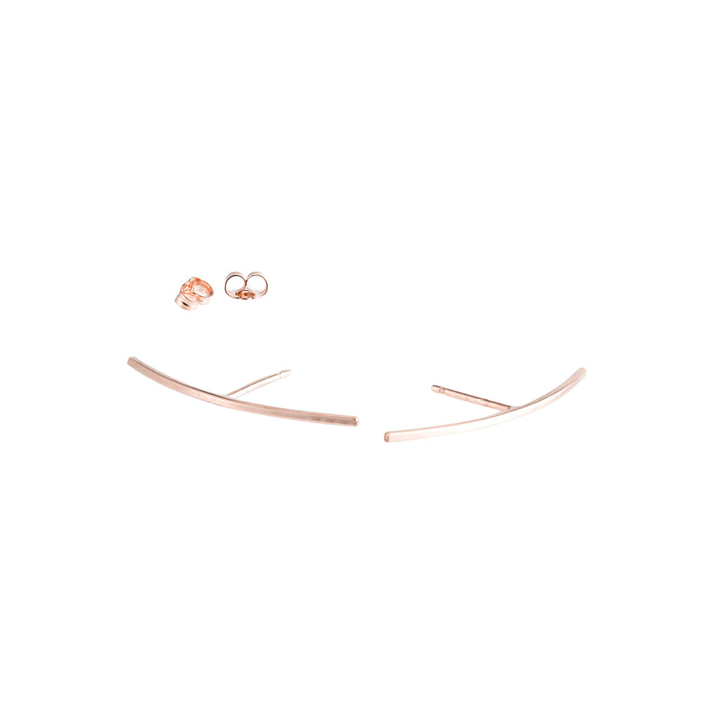 E341rg Bow Post Earrings in Rose Gold
