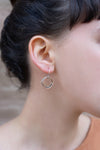 E343 Small Four Color Multi Square Hoop Earrings