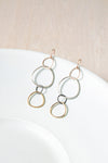 E347 4-Color Linear Hoop Earring