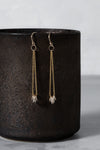E349g.yg Gold & Silver Cinq Earrings in Yellow Gold and Sterling Silver