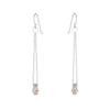 E349s.rg.yg Gold & Silver Cinq Earrings in Sterling Silver, Rose Gold and Yellow Gold