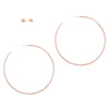 E355rg Extra Large Classic Circle Hoops in Rose Gold