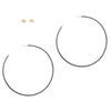 E355x Extra Large Classic Circle Hoops in Black Oxidized Sterling Silver