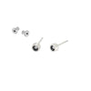 E358 Black & White Sunken Diamond Stud Earrings