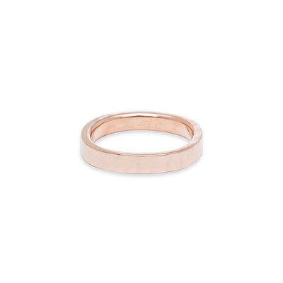 GRS3.rg 3mm Matte Rose Gold Hammered Round Ring