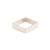 GSQ4.yg-1.5 4mm Matte Yellow Gold Hammered Square Ring with 1.5mm Diamond