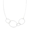 N193s Organic Four Loop Necklace in Sterling Silver