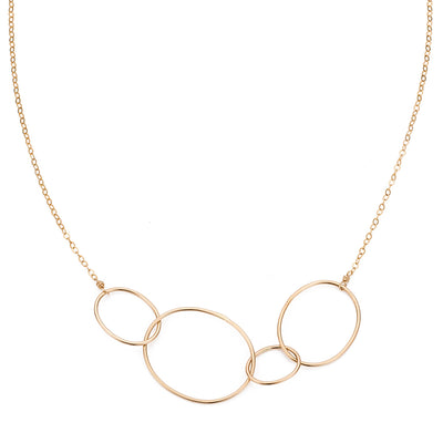 N193yg Organic Four Loop Necklace in Yellow Gold