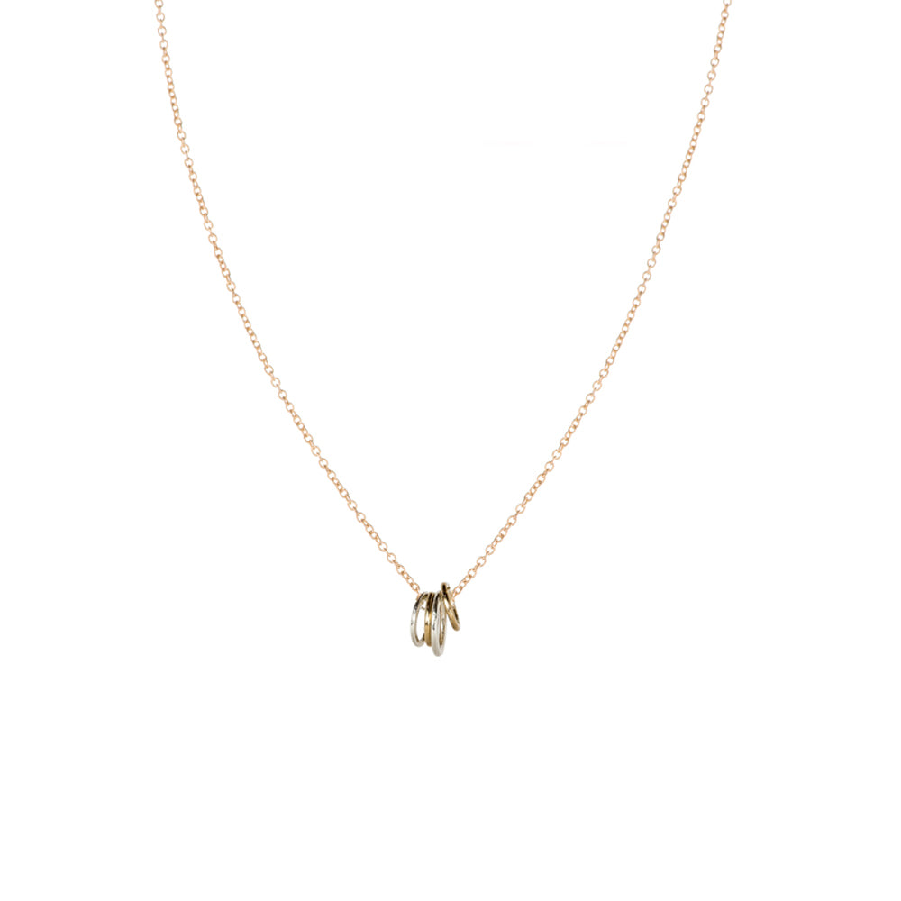 N268g.yg Famila Necklace on Yellow Gold Chain