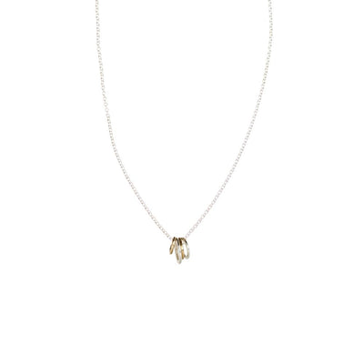 N268s.yg Famila Necklace on Sterling Silver Chain