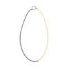 N269x.yg Line Necklace in Black Oxidized Silver & Yellow Gold