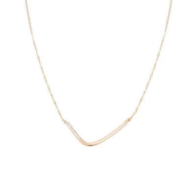 N276g.yg Yellow Gold and Silver Mini Inflecto Necklace