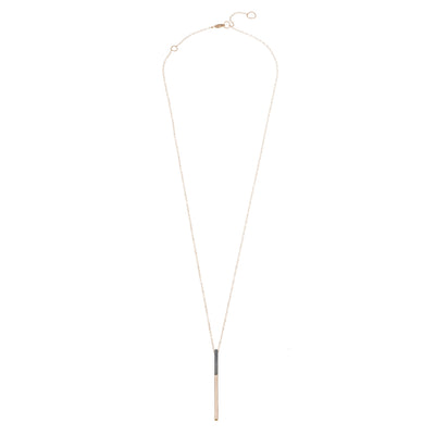 Long Black & Gold Virga Necklace