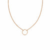 N303rg Simple Rounded Square Necklace in Rose Gold on Fine Chain