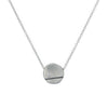 N313 Black & White Line and Disc Pendant with Tiny Diamond