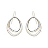 E287s.yg Topography Earrings in Yellow Gold, Silver and Black Oxidized Silver (Mostly Silver)