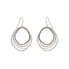 E286s.rg Small Rose Gold, Silver and Black Topography Earrings