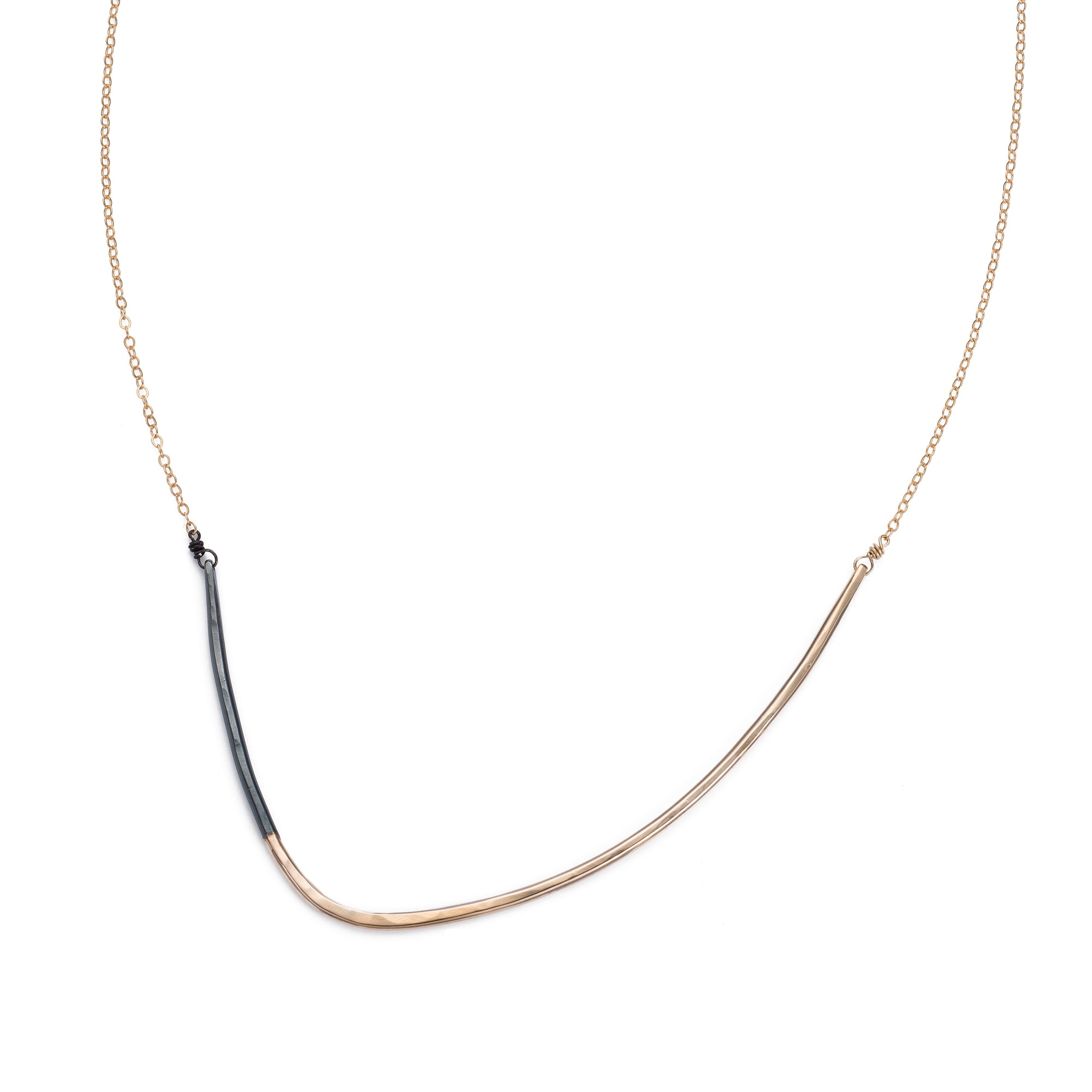 Black & Gold Inflecto Necklace