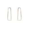 Small Fragment Pull-Through Hoop Earrings