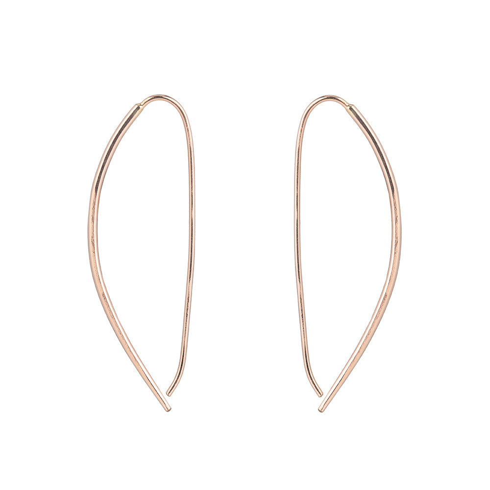 Large Mercury Pull-Through Hoop Earrings (NEW!)
