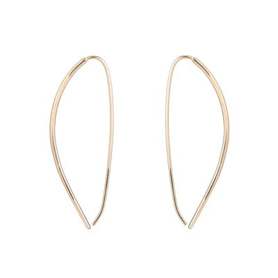 Large Mercury Pull-Through Hoop Earrings