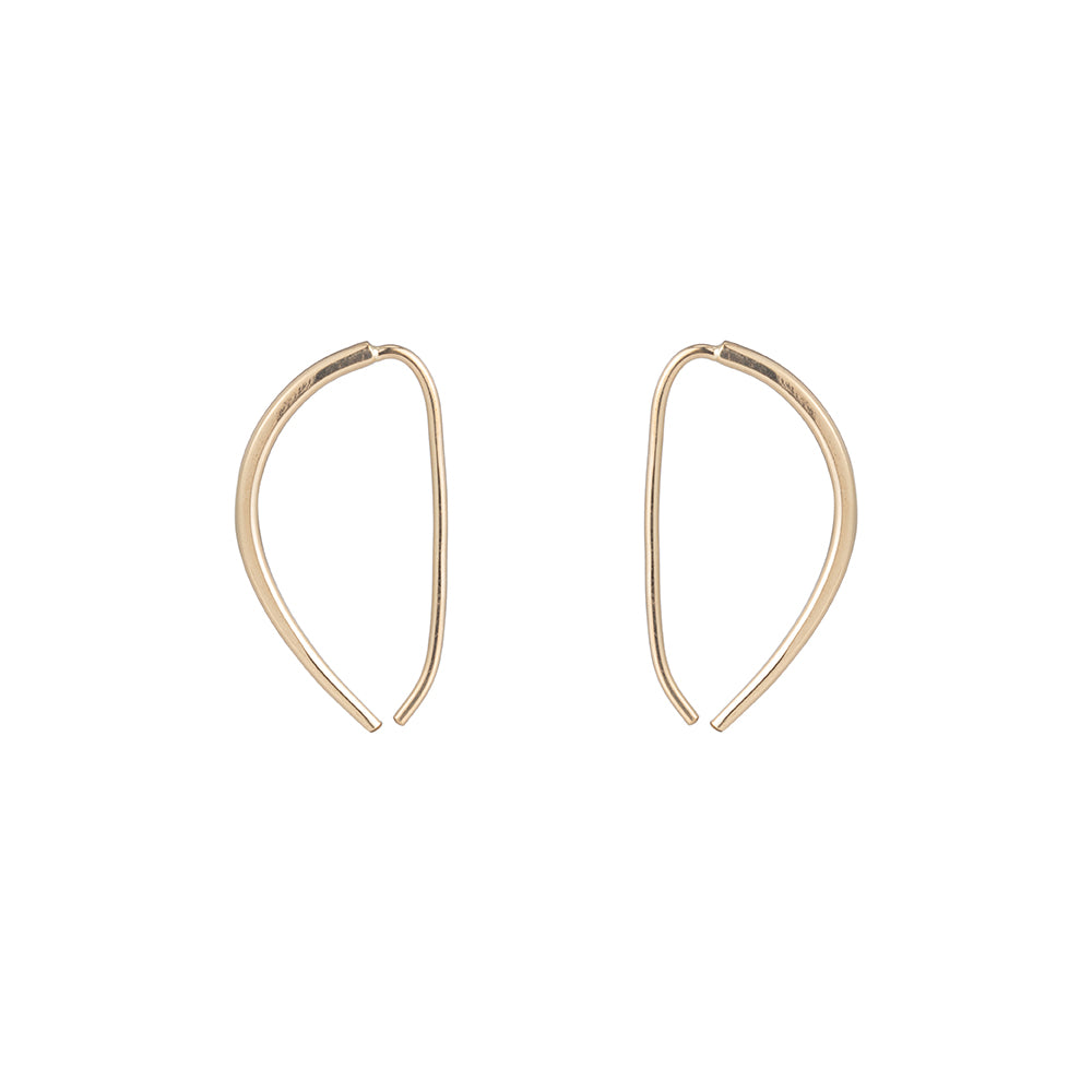 Small Mercury Pull-Through Hoop Earrings (NEW!)