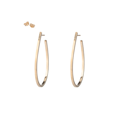 Small Saturn Hoop Earrings