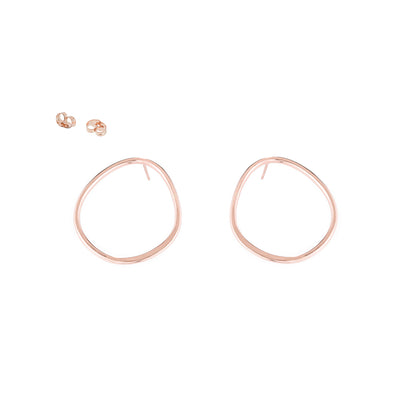 E351rg Pear Stud Earrings in Rose Gold