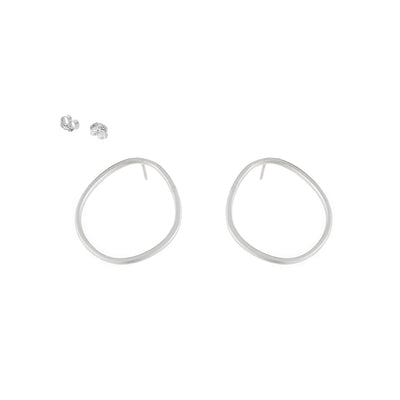 E351s Pear Stud Earrings in Sterling Silver
