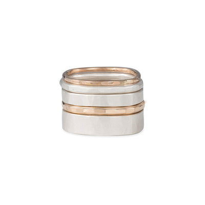 R35.RND 5-Stack Round Mixed Metal Densa Ring