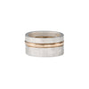 R37.RND 3-Stack Two-Toned Round Densa Ring Set in Silver and Yellow Gold