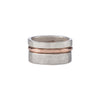 R37rg.RND 3-Stack Two-Toned Round Densa Ring Set in Silver and Rose Gold