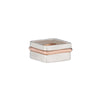 R37rg.SQ 3-Stack Two-Toned Square Densa Ring Set in Silver and Rose Gold