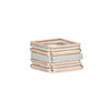 5 or 7-Stack Three-Color Square Densa Ring Set