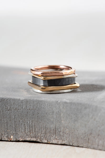 R50x.SQ.RND 5-Stack Mixed Shape Ring Stack