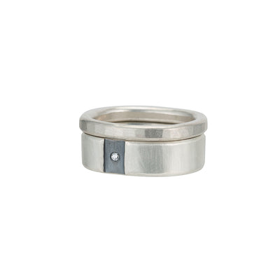R-R51.RND-1.5 Channel & Diamond Round Ring Set