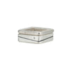 R-R52.SQ-1.0 Line & Diamond Square Stack Ring Set