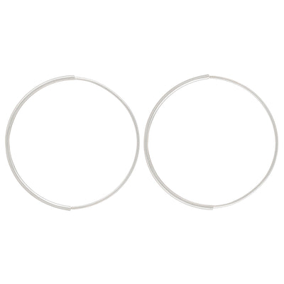 Large Half Moon Pull-Through Hoop Earrings