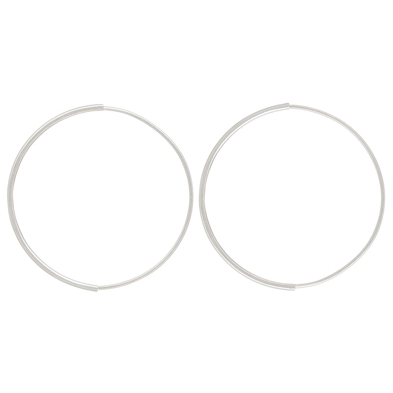 Large Half Moon Pull-Through Hoop Earrings (NEW!)