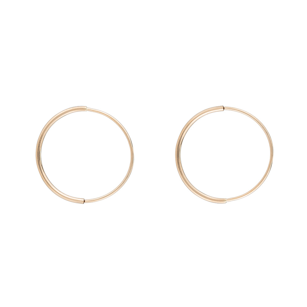 Small Half Moon Pull-Through Hoop Earrings (NEW!)