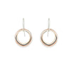E343 Small Four Color Multi Square Hoop Earrings in Sterling Silver, Oxidized Silver, Yellow Gold and Rose Gold