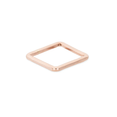TGSQ.rg Thick Individual Square Stacking Ring in Rose Gold
