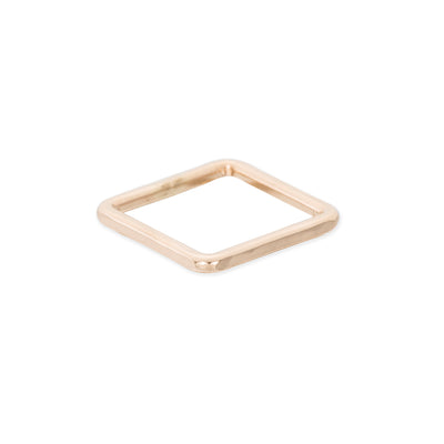 TGSQ Thick Individual Square Stacking Ring in Yellow Gold