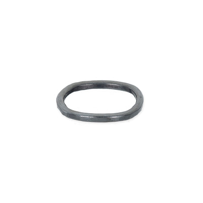 TORS Thick Individual Stacking Ring in Black Oxidized Sterling Silver