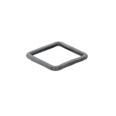 TOSQ Thick Individual Square Stacking Ring in Black Oxidized Sterling Silver