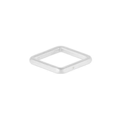 TSSQ-2.0 2.5mm Wide Sterling Silver Square Ring with Diamond