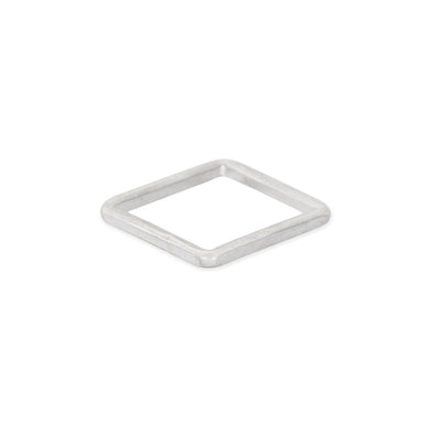 TSSQ Thick Individual Square Stacking Ring in Sterling Silver