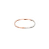 TTNRS.rg Thin Two-Toned Mixed Metal Rose Gold & Sterling Silver Round Ring