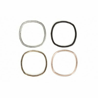 USRS Round Upper Side Ring in Yellow Gold, Rose Gold, Sterling Silver and Oxidized Sterling Silver