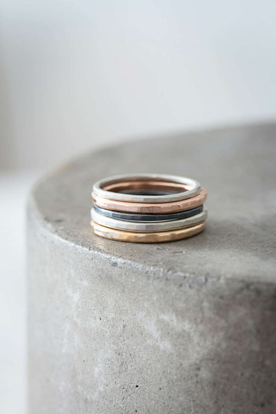 5 or 7-Stack Four-Color Round Ring Set (NEW!)